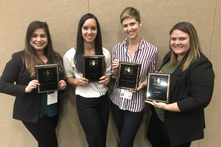 L-R: Heather Cohen, Analisa Arroyo, Belinda Stillion Southard, Sarah Caban - Top Paper, Health Communication